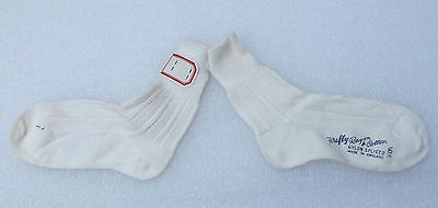 FIREFLY girls vintage 1950s ankle socks UNUSED rayon & cotton Nylon spliced